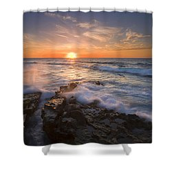 Reaching For The Sun Shower Curtain by Mike  Dawson