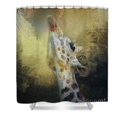 Reaching Giraffe Shower Curtain