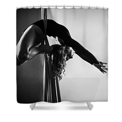 Reaching Light Shower Curtain