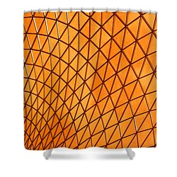 Orange Glow Shower Curtain by Elvira Butler