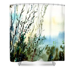 Reaching The Sky Shower Curtain by Anil Nene