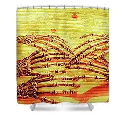 Reaching The Technological Singularity  Shower Curtain