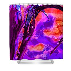 Reaching To Purple Clouds Shower Curtain