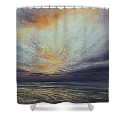 Reaching Higher Shower Curtain by Valerie Travers