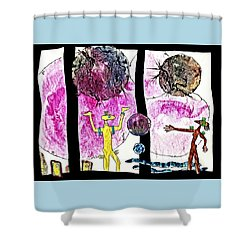 Reaching  Out Shower Curtain by Hartmut Jager