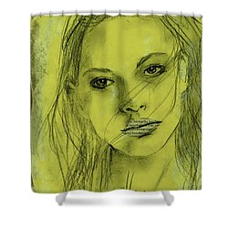 Read My Lips Shower Curtain