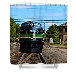 Reading 284  Train Shower Curtain