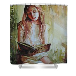 Reading Shower Curtain by Elena Oleniuc
