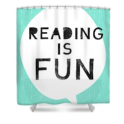 Reading Is Fun- Art By Linda Woods Shower Curtain