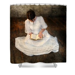 Reading  Shower Curtain by Jill Battaglia