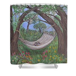 Reading Time Shower Curtain by Debbie Baker