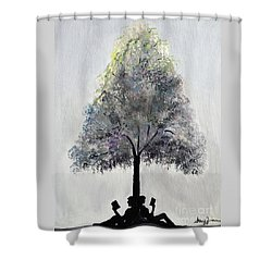 Reading Tree Shower Curtain