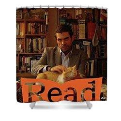 Read  National Readathon Shower Curtain by David Cardona