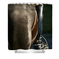 Shower Curtain featuring the photograph Ready by Angela Rath