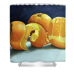 Shower Curtain featuring the painting Ready For Oranges by Linda Apple