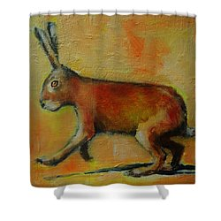 A Good Hare Day Shower Curtain by Jean Cormier
