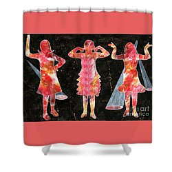 Besties - Ready To Dance Shower Curtain