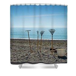 Ready To Go Fishing  Shower Curtain