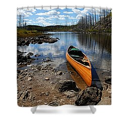 Ready To Paddle Shower Curtain by Larry Ricker