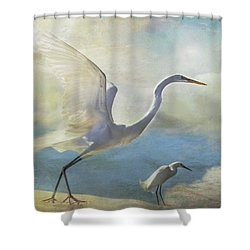 Shower Curtain featuring the digital art Ready To Soar by Nicole Wilde