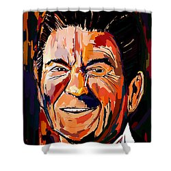 Reagan Revisited Shower Curtain by John Jr Gholson
