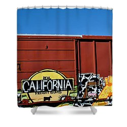 Real California Freight Bums  Shower Curtain
