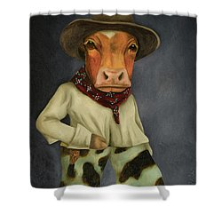 Real Cowboy 2 Shower Curtain by Leah Saulnier The Painting Maniac