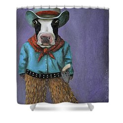 Real Cowboy Shower Curtain by Leah Saulnier The Painting Maniac