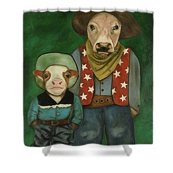 Real Cowboys 3 Shower Curtain by Leah Saulnier The Painting Maniac