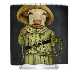 Real Cowgirl 2 Shower Curtain by Leah Saulnier The Painting Maniac