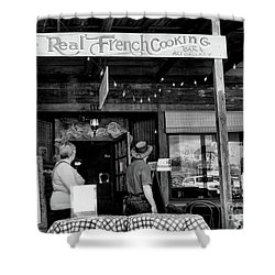 Real French Cooking Louisiana Restaurant  Shower Curtain