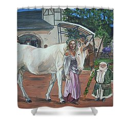 Shower Curtain featuring the painting Real Life In Her Dreams by Bryan Bustard