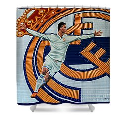 Real Madrid Painting Shower Curtain