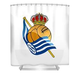 Real Sociedad De Futbol Sad Shower Curtain by David Linhart