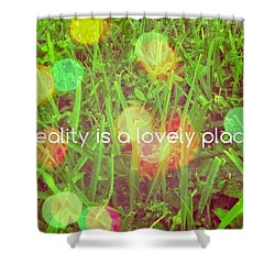 Shower Curtain featuring the photograph Reality by Artists With Autism Inc