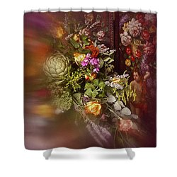 Floral Arrangement No. 1 Shower Curtain by Richard Cummings