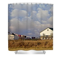 Really Long Clothesline Shower Curtain