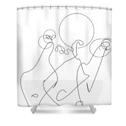 Really Loose Drawing 2 Shower Curtain