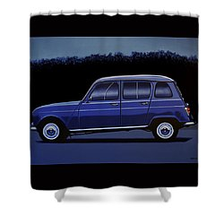Renault 4 1961 Painting Shower Curtain