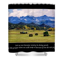 Reap A Harvest Shower Curtain