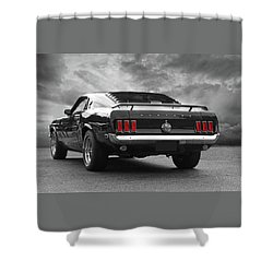 Rear Of The Year - '69 Mustang Shower Curtain