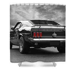 Rear Of The Year - '69 Mustang Shower Curtain by Gill Billington