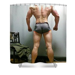 Rear View II Shower Curtain by Jake Hartz