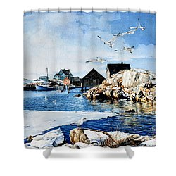 Shower Curtain featuring the painting Reason To Believe by Hanne Lore Koehler