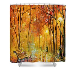 Reasons Of Autumn  Shower Curtain by Leonid Afremov