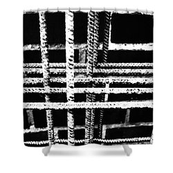 Rebar And Brick - Industrial Abstract Shower Curtain