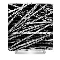 Rebar And Spring - Industrial Abstract  Shower Curtain