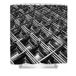 Rebar On Rebar - Industrial Abstract Shower Curtain