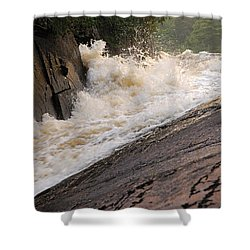 Rebecca Falls At Sunset Shower Curtain by Larry Ricker