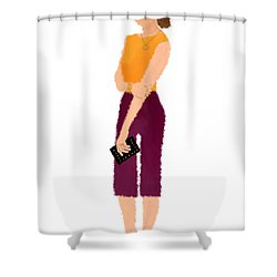 Shower Curtain featuring the  Rebecca by Nancy Levan